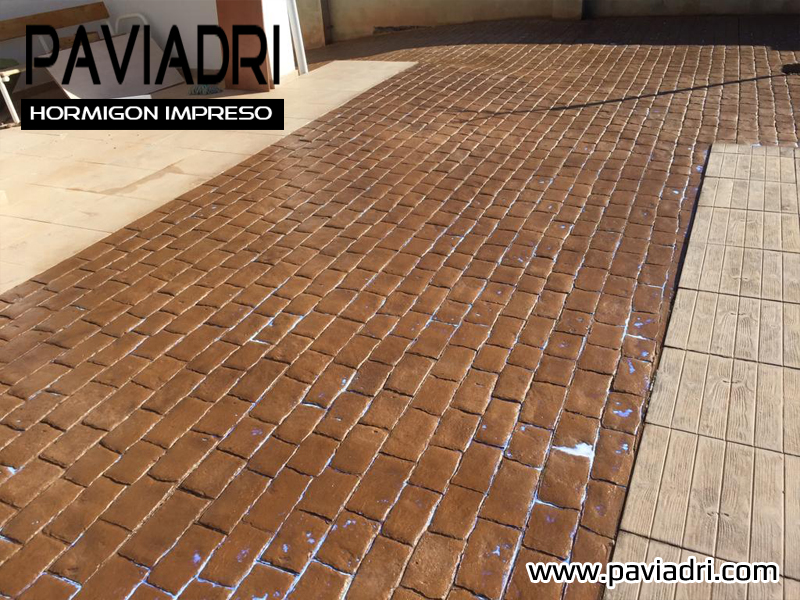 Hormigon impreso terrazas Precio suelo hormigón impreso valencia