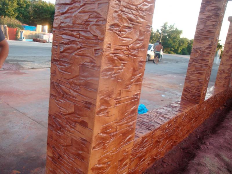 Hormigon impreso vertical muros y tabiques