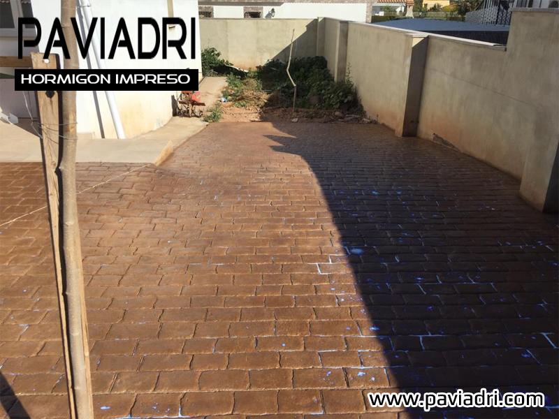 Hormigon impreso terrazas chalet Precio suelo hormigón impreso valencia