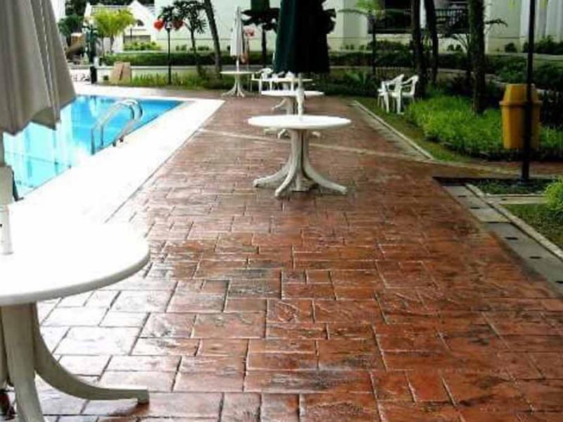 Hormigon impreso alrededor de piscinas - Valencia precio metro cuadrado hormigon impreso