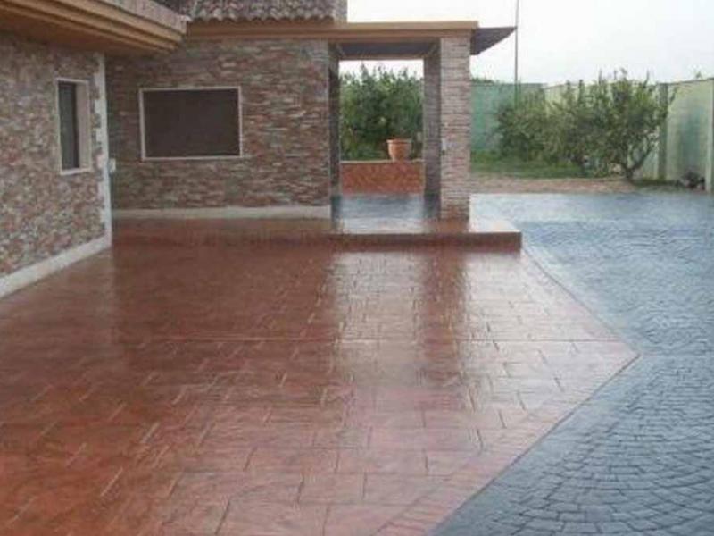 Hormigon impreso patios y exteriores precio metro cuadrado hormigon impreso