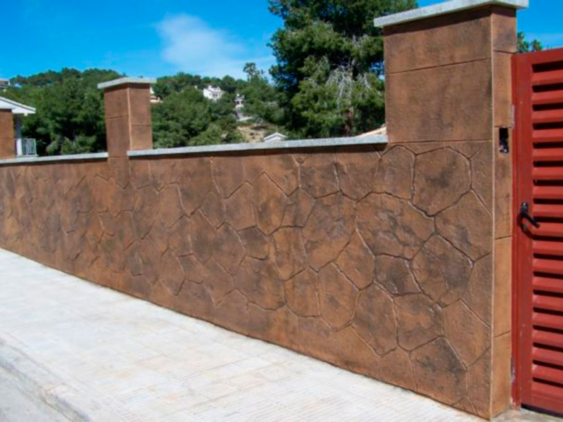 Hormigon impreso vertical paredes y muros exteriores Precio suelo hormigón impreso valencia