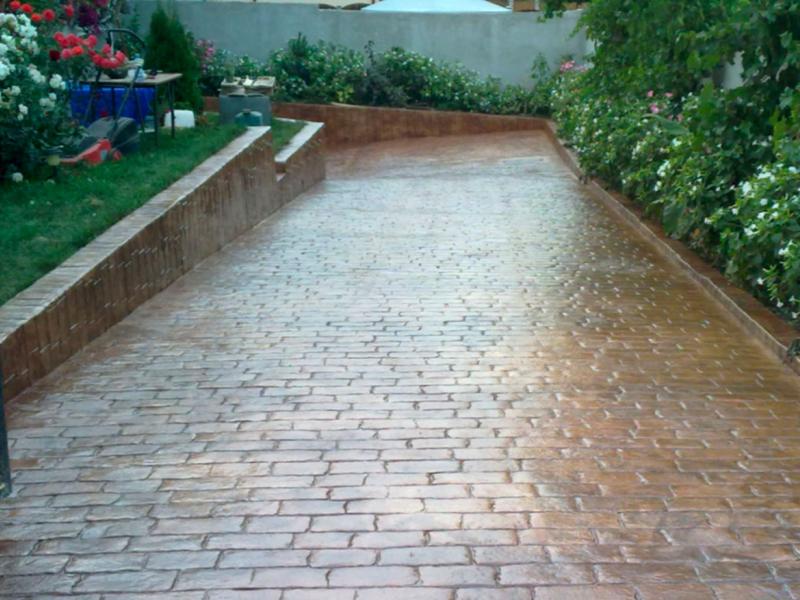 Hormigon impreso patios y exteriores Precio suelo hormigón impreso valencia